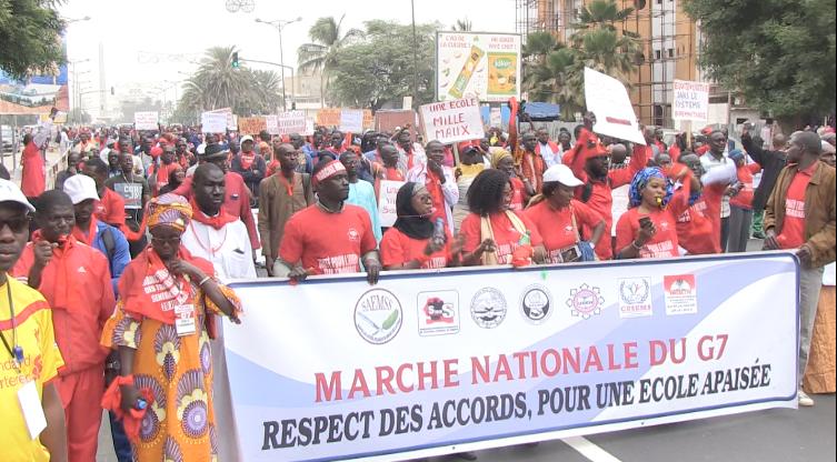 Les enseignants du G7 dans la rue, pour exiger la matérialisation des accords de 2018